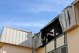 Arson at Stenner Glen; fire displaces over 30 students