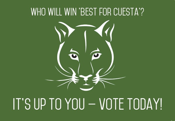 Vote for your local faves in 'Best for Cuesta'