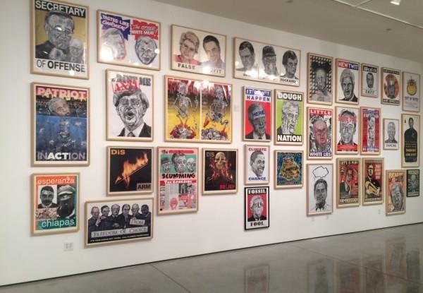 Robbie Conal art exhibit now open at Harold J. Miossi art gallery