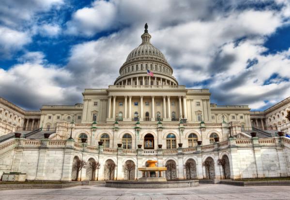 Students speak in front of Congress