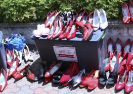 Cuesta's men don high heels in support of women