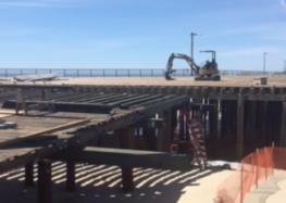The Pismo Beach pier is officially under reconstruction