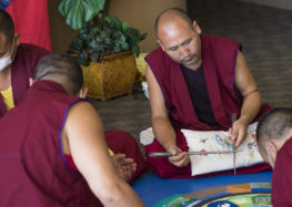 Tibetan Buddhist monks visit Cuesta campus