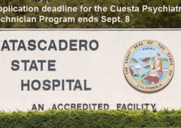Application deadline for the Cuesta Psychiatric Technician Program ends Sept. 8
