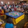 Tibetan monks close peace ceremony by destruction of sacred mandala
