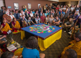Tibetan monks close peace ceremony by destruction of sacred mandala