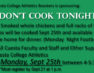Don't Cook Tonight, September 2017