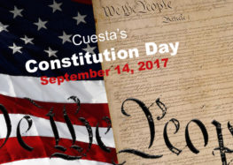 Cuesta to celebrate Constitution Day early