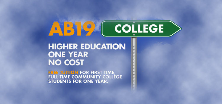 First year free tuition for California Community College students