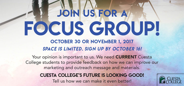 Join focus group, receive free lunch and gift