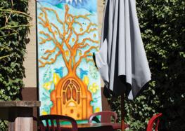 Local art at Linnaea's coffee Shop