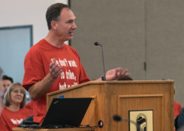 "Cuesta faculty rally for ""fair pay"" at board of trustees meeting"