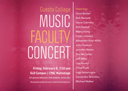 Cuesta faculty to perform annual jazz concert