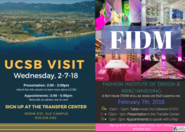 College representatives from UCSB and FIDM visit Cuesta campus