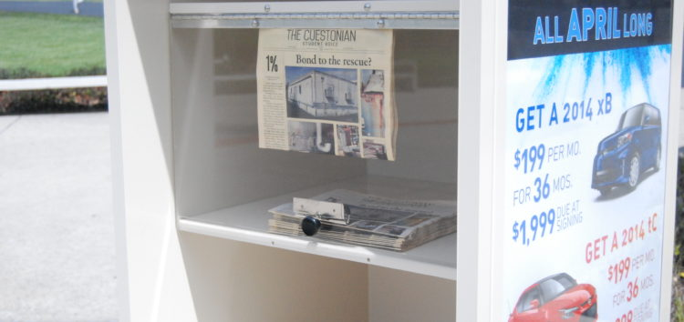 Newspapers vanished from Cuesta Campus