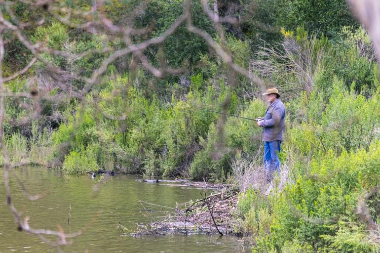 Fishing, a popular activity at Santa Margarita Lake, is enjoying the benefits of extra rain.