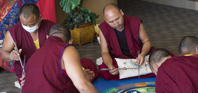 Tibetan Buddhist monks visit Cuesta campus