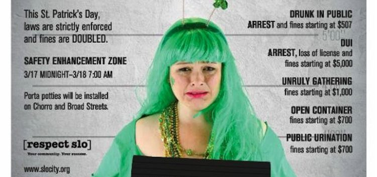 Doubled fines enforced this St. Patrick's weekend
