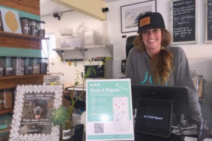 Chelsea Brescia, a Pismo Beach merchant affiliate with Kick-It Points.