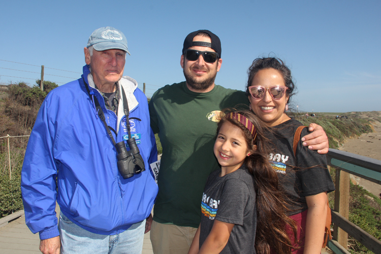 (From left to right) Tim Postiff, Ben Grill, Sofia Diaz Grill and Miriam Diaz at Piedras Blancas Elephant Seal Rookery.